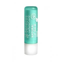 Benecos Baume à lèvres Menthe 4g produit de soin des lèvres biologique Les Copines Bio
