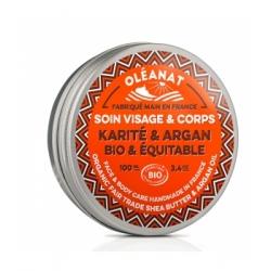 Oleanat Baume au beurre de karité et huile d'argan 100ml produit de soin pour le visage et le corps Les Copines Bio