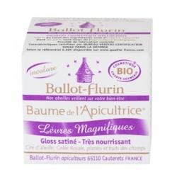 Ballot Flurin Baume de l'Apicultrice Lèvres Magnifiques 15ml produit de soins des lèvres Les Copines Bio