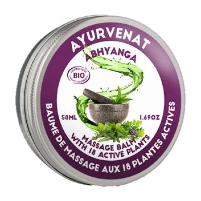 Oleanat Baume de massage Ayurvédique ABHYANGA aux 18 plantes 50ml produit de soin corps apaisant et relaxant Les Copines Bio