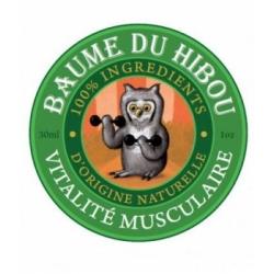Les Baumes Du Hibou Baume de massage vitalité musculaire 30ml produit de soin articulaire et musculaire Les Copines Bio