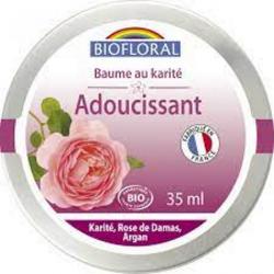 Biofloral Baume précieux adoucissant au Karité et Rose de Damas 35ml produit de soin visage et corps Les Copines Bio