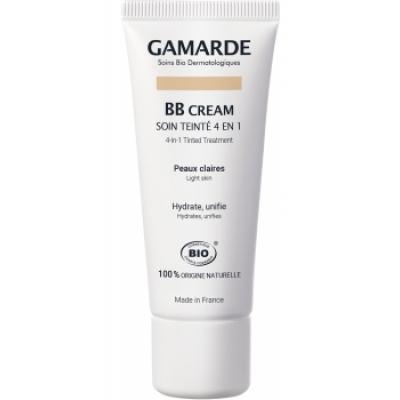 Gamarde BB crème Soin teinté 4 en 1 Peaux claires 40gr produit de maquillage minéral pour le Teint Les Copines Bio