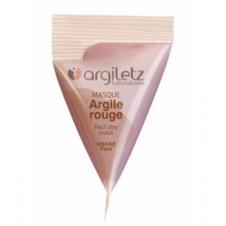 Argiletz Berlingot masque argile rouge 15ml produit de soin pour le visage Les Copines Bio