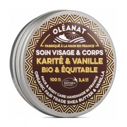 Oleanat Beurre de Karité Vanille Bio et Equitable 100ml produit de soin pour le corps et les cheveux Les Copines Bio