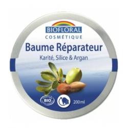 Biofloral Baume réparateur Beurre de Karité Silice Argan Cire d'abeille 200ml produit de soin pour le corps et les cheveux Les C