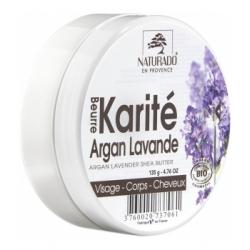 Naturado Beurre de Karité Argan Lavande 150ml produit de soin pour le corps et les cheveux Les Copines Bio