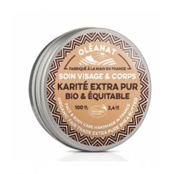 Oleanat Beurre de karité extra pur Bio équitable sans parfum 100ml produit de soin pour le corps Les Copines Bio