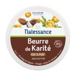 Natessance Beurre de Karité Protecteur 100gr produit de soin pour le visage, le corps et les cheveux Les Copines Bio