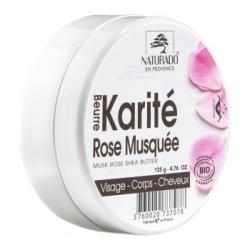 Naturado Beurre de karité Rose musquée 150ml produit de soin pour le visage, le corps et les cheveux Les Copines Bio