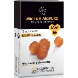 Comptoirs Et Compagnies Billes Fourrées 30% Miel de Manuka IAA10 Plus 54gr complément alimentaire Les Copines Bio