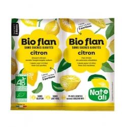 Natali Bioflan Citron sans sucres ajoutés 2x3,5gr aliment pour préparation d'entremet Les Copines Bio