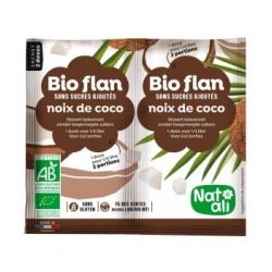 Natali Bioflan Noix de coco sans sucres ajoutés 8gr aliment pour préparation d'entremet Les Copines Bio