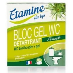 Etamine du Lys Bloc gel WC au Pin et à l'Eucalyptus 50ml 0.050 ml Produit d'entretien des WC Les Copines Bio