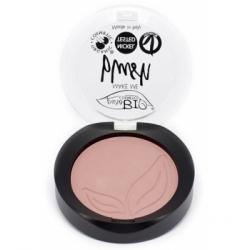 Purobio Cosmetics Blush 01 Rose satiné 5.2gr produit de maquillage minéral pour le Teint Les Copines Bio