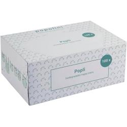 Popolini Boite Popli voiles de protection en Viscose à jeter pour couches lavables x100 feuilles produit d'hygiène pour le chang