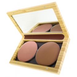 Zao Make-up Boîtier bambou magnétique Petit modèle rechargeable vide x1 produit accessoire de maquillage Les Copines Bio
