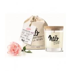 Nao Bougie Parfumée Naturelle Rose 200gr bougie parfumée d'intérieur Les Copines Bio