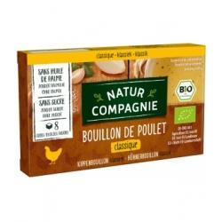 Natur Compagnie Bouillon cube de poulet 88gr produit d'épicerie et d'aide culinaire Les Copines Bio