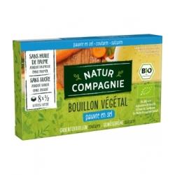 Natur Compagnie Bouillon cube végétal pauvre en sel 68gr produit d'épicerie et d'aide culinaire Les Copines Bio