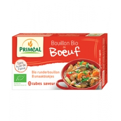 Primeal Bouillon de boeuf en cube 80gr produit d'épicerie et d'aide culinaire Les Copines Bio