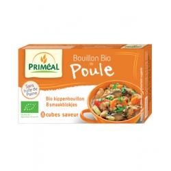 Primeal Bouillon bio de poule en cube 80gr produit d'épicerie et d'aide culinaire Les Copines Bio