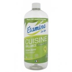 Etamine du Lys Brillance cuisine à l'eucalyptus recharge 1 litre Produit d'entretien Les Copines Bio