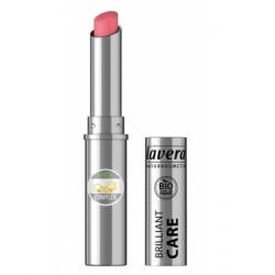 Lavera Brillant à lèvres Q10 Strawberry pink 02 1.7gr produit de maquillage minéral Les Copines Bio