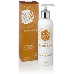 Earth Line Bronzant express vitamine E flacon pompe 200ml produit de soin de la peau Les Copines Bio