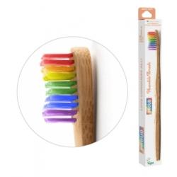 Humble Brush Brosse à dents adultes Arc en ciel Soft 15gr produit accessoire d'hygiène bucco-dentaire Les Copines Bio