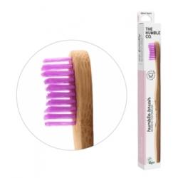 Humble Brush Brosse à dents adultes rose Médium 15gr produit accessoire d'hygiène bucco-dentaire Les Copines Bio