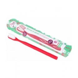 Lamazuna Brosse à dents écologique rechargeable Rouge Souple 17gr produit accessoire d'hygiène bucco-dentaire Les Copines Bio