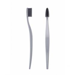 Bio Brush Brosse à dents medium souple écologique adulte GRISE x1 produit accessoire d'hygiène bucco-dentaire Les Copines Bio