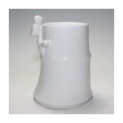 Zen Arome Brûle Parfum en céramique Bambou Blanc 500gr Diffuseur Brûle Parfum d'Aromathérapie Les Copines Bio