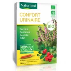 Naturland Confort urinaire Bruyère Busserole Bouleau Ortie Bio 20 ampoules de 10ml complément alimentaire Les Copines Bio