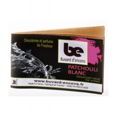 Buvards D'Encens Buvard d'encens Patchouli Blanc 36 feuillets parfum d'ambiance sous forme de papier d'encens Les Copines Bio