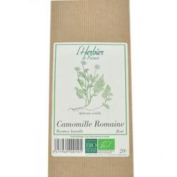 Herbier De France Camomille Romaine bio 20gr produit alimentaire pour préparation de tisanes Les Copines Bio