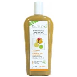 Dermaclay  Capilargil à l'Argile jaune Cheveux Secs prévient les irritations 400ml produit de soin pour les cheveux Les Copines