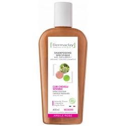 Dermaclay  Shampoing Extra Douceur Capilargil à l'Argile Rose Cheveux fragiles et délicats 400ml produit de soin pour les cheveu