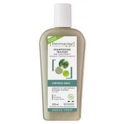Dermaclay  Capilargil à l'Argile verte cheveux gras et pellicules 400ml produit de soin pour les cheveux Les Copines Bio