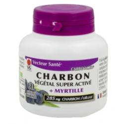 Vecteur Santé Carbo activ myrtille 60 gélules complément alimentaire Les Copines Bio