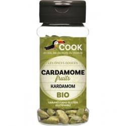 Cook Cardamome fruits 25gr aliment pour préparation de plats traditionnels Les Copines Bio