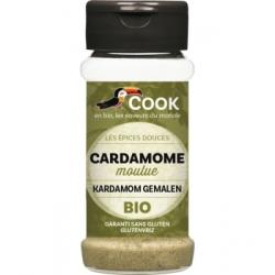 Cook Cardamome poudre 35gr aliment pour préparation de plats traditionnels Les Copines Bio