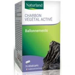 Naturland Charbon végétal 75 Gélules Végécaps complément alimentaire Les Copines Bio