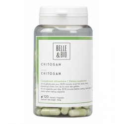 Belle et Bio Chitosan naturel 120 gélules Complément alimentaire Les Copines Bio