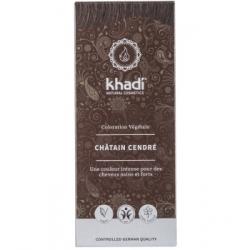 Khadi Coloration végétale Chatain cendré 100gr produit de coloration capillaire Les Copines Bio
