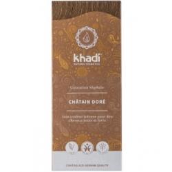 Khadi Coloration végétale Chatain doré 100gr produit de coloration capillaire Les Copines Bio