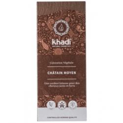Khadi Coloration végétale Chatain moyen 100gr produit de coloration capillaire Les Copines Bio
