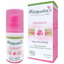 Mosqueta's Contour yeux et lèvres Rose Musquée Acide hyaluronique Avoine 15ml produit de maquillage pour les lèvres Les Copines