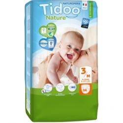 Tidoo Couches MIDI (T3) 4/9kg 56 unités produit d'hygiène pour bébé Les Copines Bio